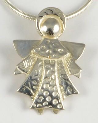 Elizabeth 2005 Silver Angel Pendant