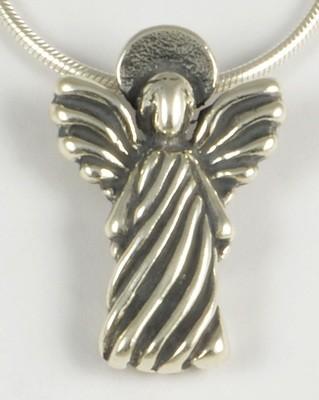 Maria Millennium 2000 Y2K Silver Angel Pendant
