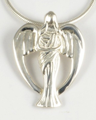 Michelle 2012 Silver Angel Pendant
