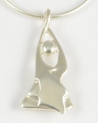 Lilli 1997 Silver Angel Pendant