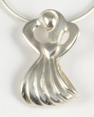 Caroline 2003 Silver Angel Pendant