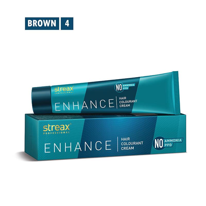 Streax Professional Enhancehair Colourant Cream -90G Brown 4