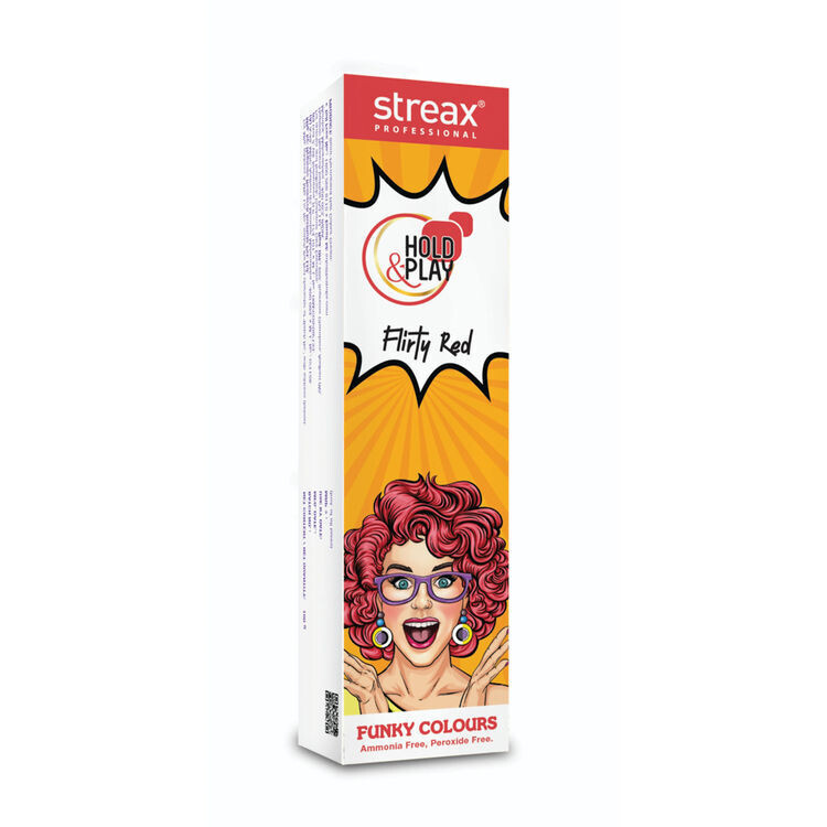 Streax Pro Hold & Play Funky Color Flirty Red 100-Gm