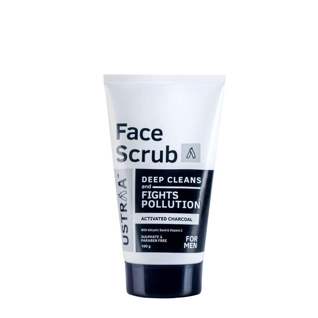 Ustraa Activated Charcoal Face Scrub 100 G