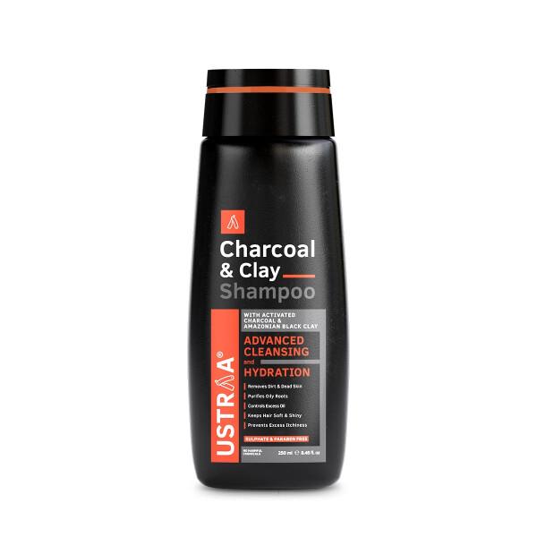 Ustraa Activated Charcoal Shampoo 250 Ml