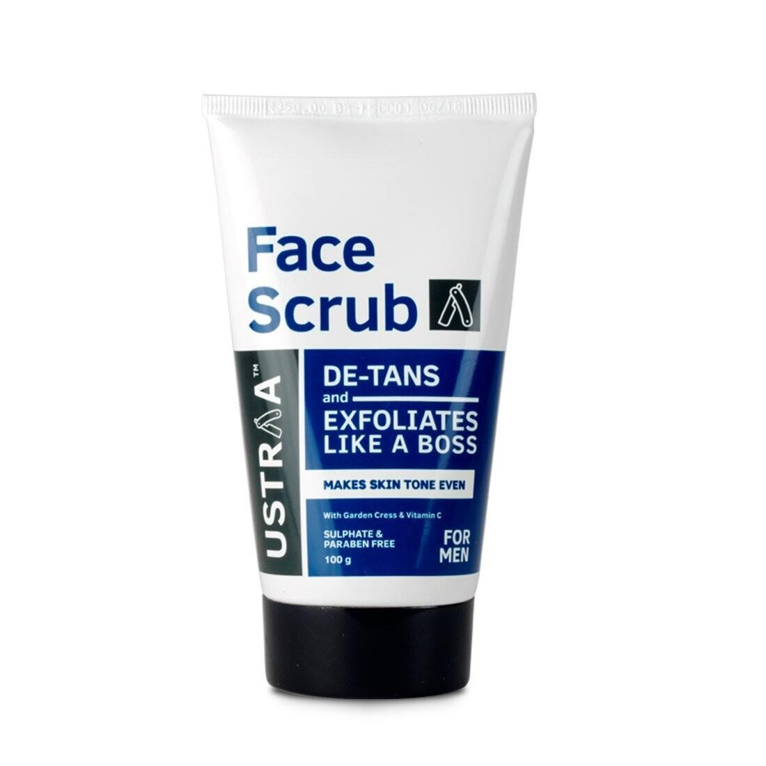 Ustraa De-Tan Face Scurb 100 G
