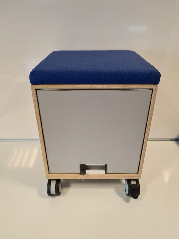 Steelcase zit-opslag kastje, afsluitbaar, verrijdbaar