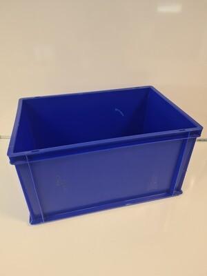 60x40x32 kunststof bak, blauw, PP, gesloten, verstevigde bodem, zgan