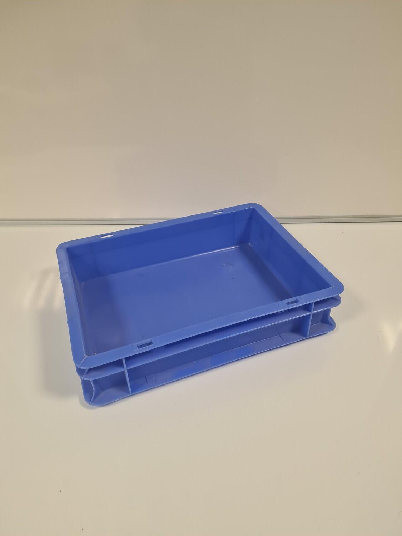40x30x9 kunststof bak, blauw, PP, Kruizinga, gesloten, gebruikt