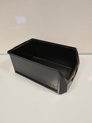 Magazijnbak 50x31x20, stapelbaar, zwart