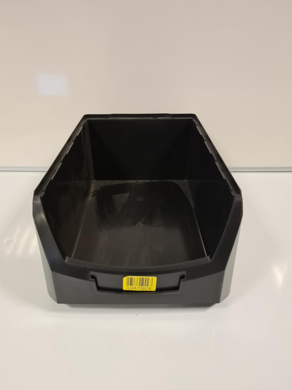 Magazijn grijpbak 50x31x20, stapelbaar, zwart