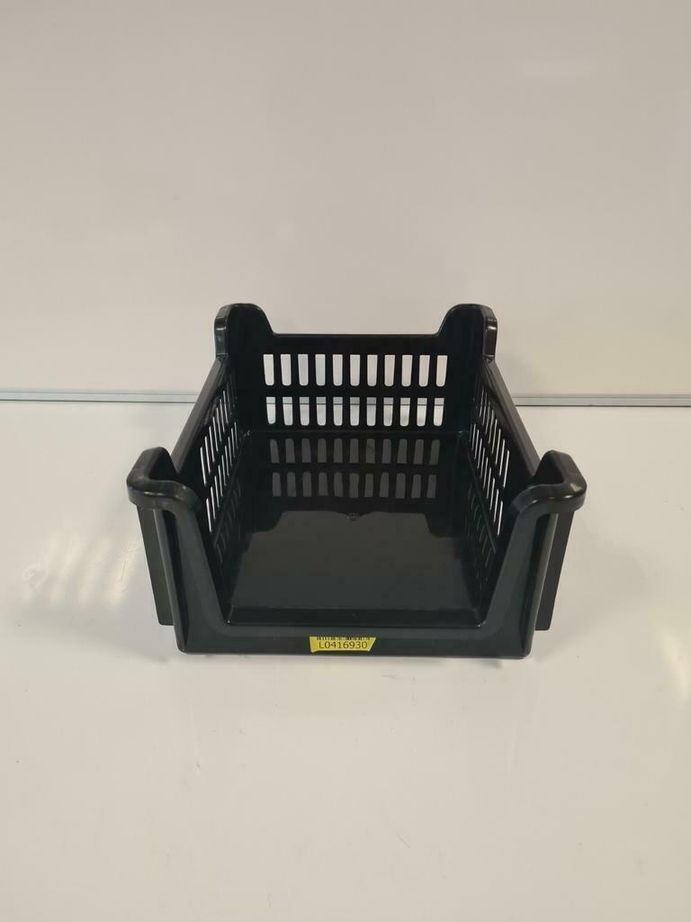 Magazijn grijpbak 40x30x16, stapelbaar, zwart