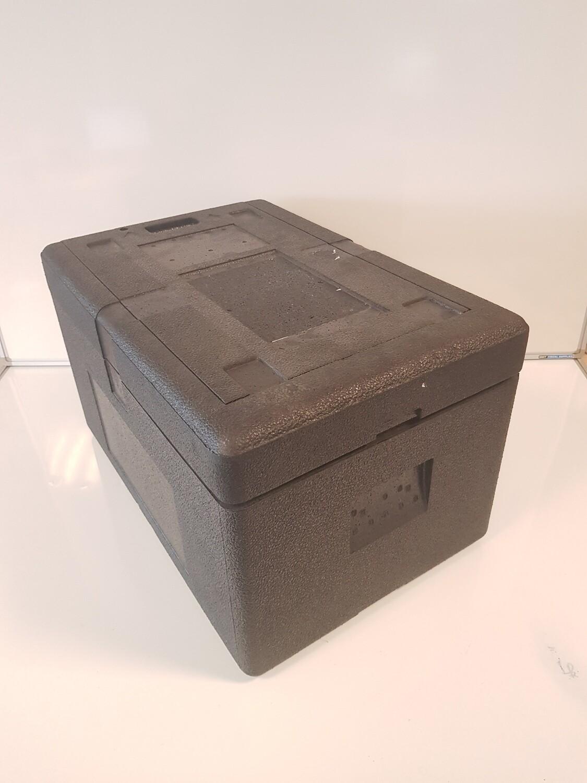 60x40x36 Thermobox, zwart, EPP, licht gebruikt