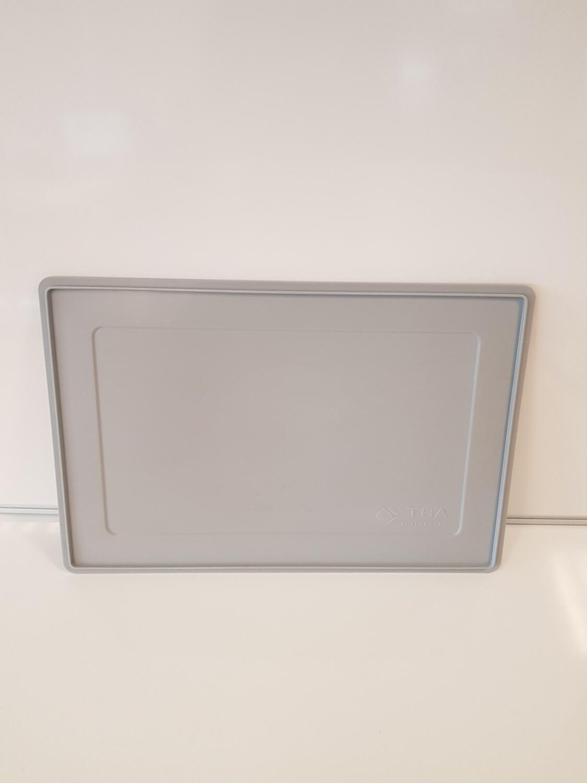 60x40 deksel, grijs, PP, gebruikt