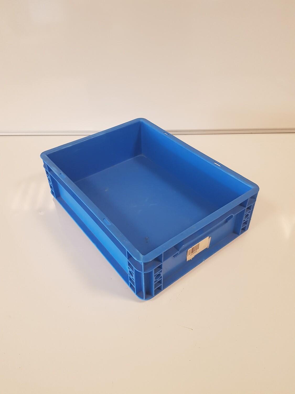 40x30x12 kunststof bak, blauw, PP, gesloten, Auer packaging, gebruikt