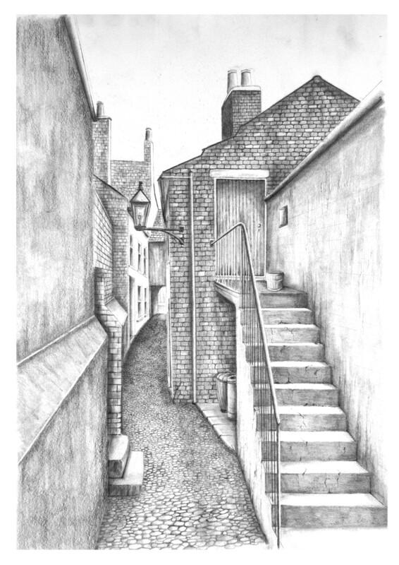 Clarkes Court off Lowther Street. Carlisle. Circa 1930