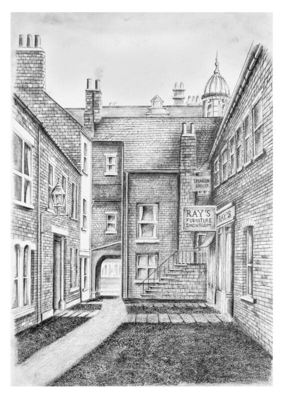 Laws Lane off Lowther Street. Carlisle c.1930