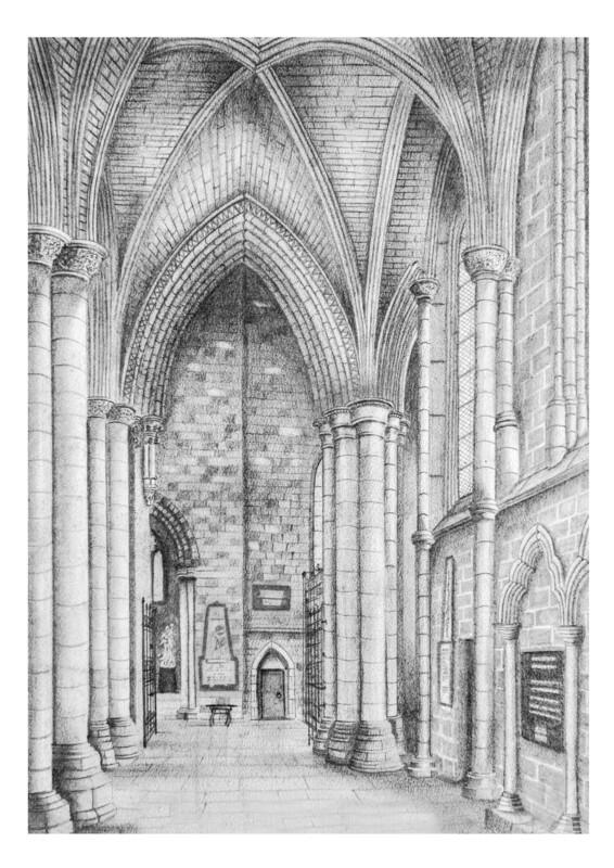 Carlisle Cathedral North Aisle Of The Choir. Circa 1930
