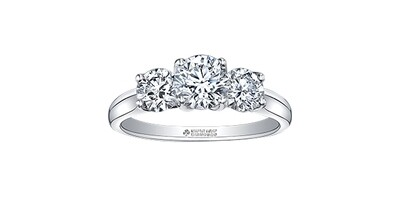 18KPD WG CAN DIA 3 STONE RING