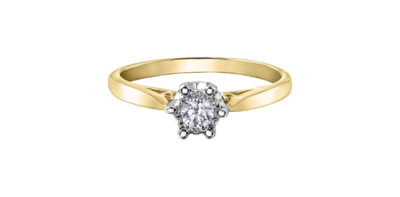 10KYG/WG SOLITAIRE RING