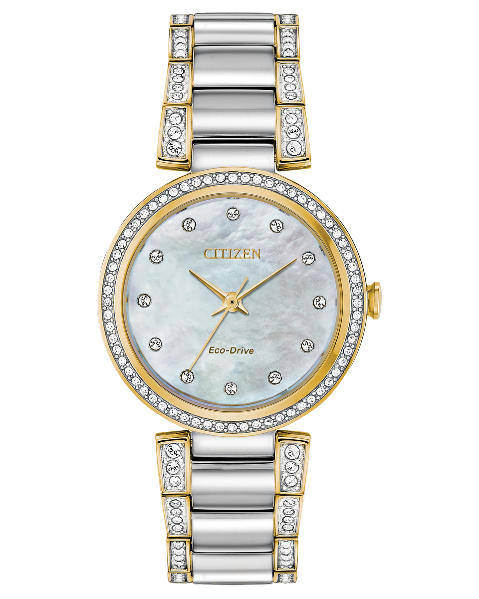 CITIZEN LDS ECO-DRIVE WATCH WITH SWAR'CRYSTALS