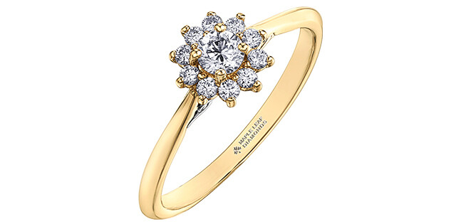 14KYG CAN DIA CLUSTER RING