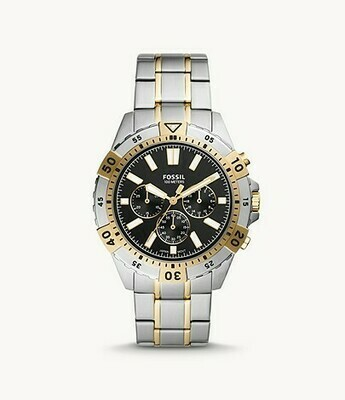 GTS T/TONE FOSSIL WATCH BLK DIAL