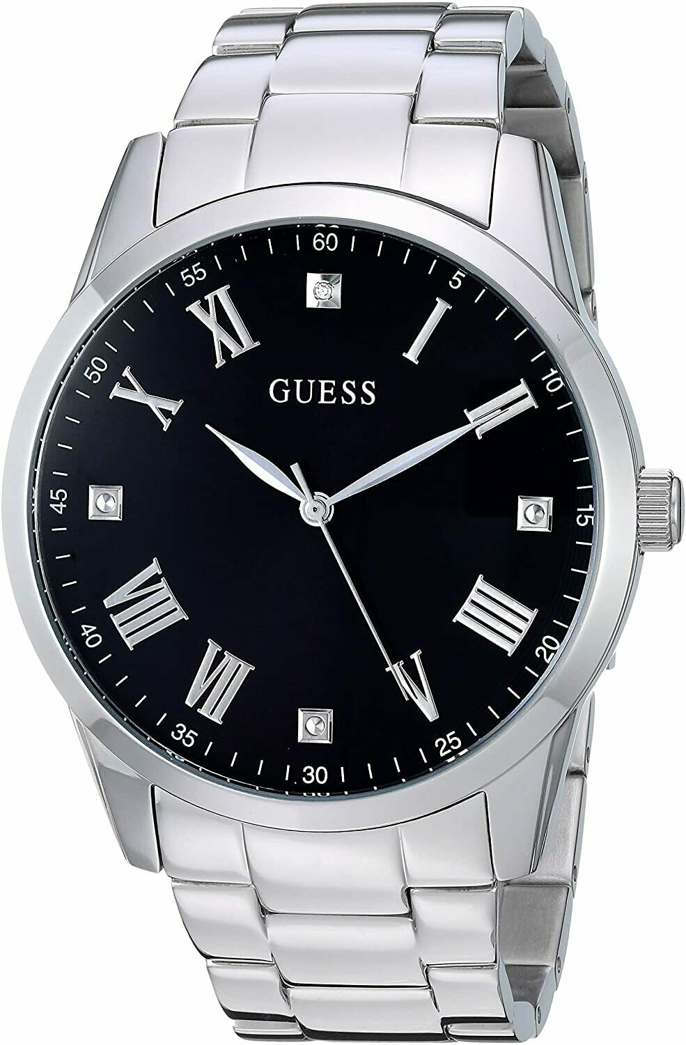 GTS S/C BLK DIAL GUESS WATCH
