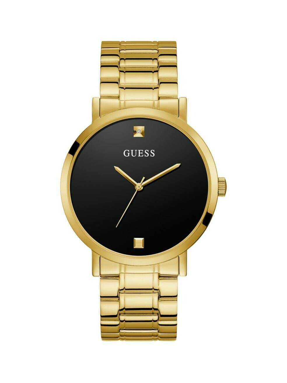 GUESS GNTS WATCH W/BLK DIAL & GOLD TONE STRAP