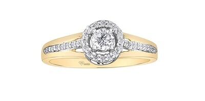 10KYG DIAMOND HALO RING