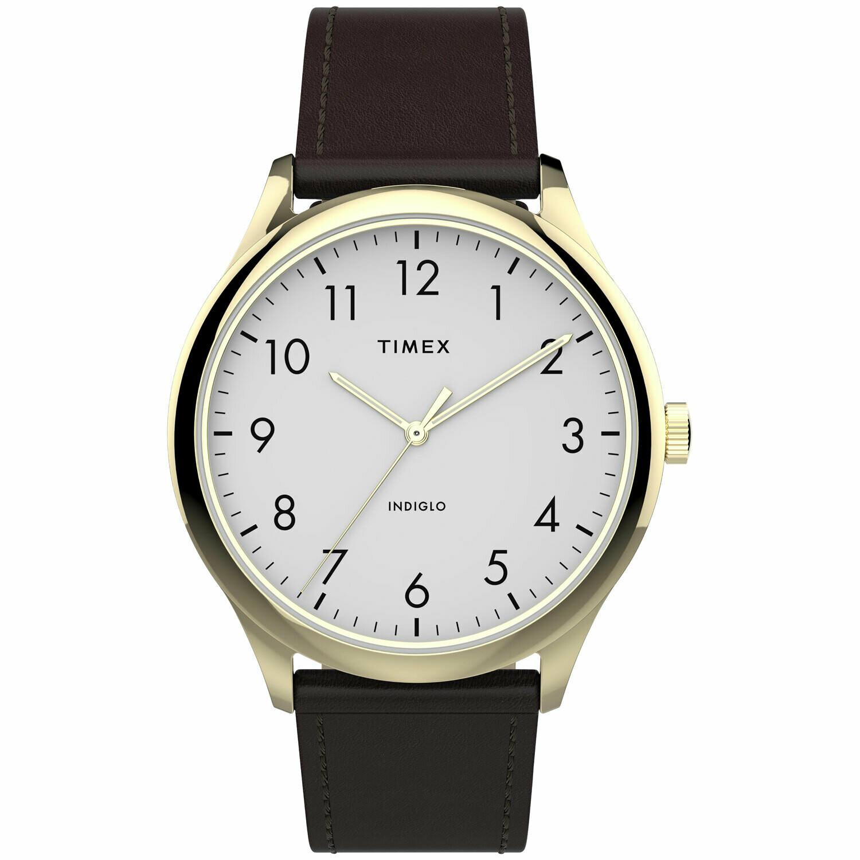 GTS G/C WHITE DIAL TIMEX WATCH