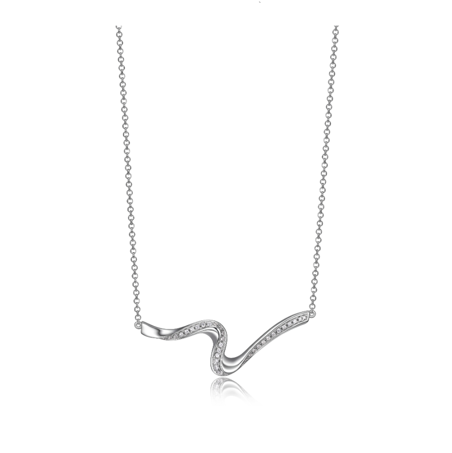 ELLE STERLING MOON SHADOW NECKLACE