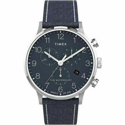 GTS BLUE CHRONO TIMEX WATCH