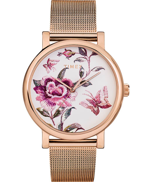 LDS 'FULL BLOOM' TIMEX WATCH FLORAL DESIGN