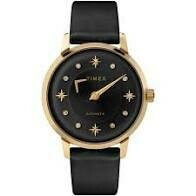 TIMEX AUTOMATIC WATCH, STARS & CLEAR STONES ON DIAL
