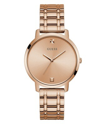 GUESS ROSE TONE LDS WATCH