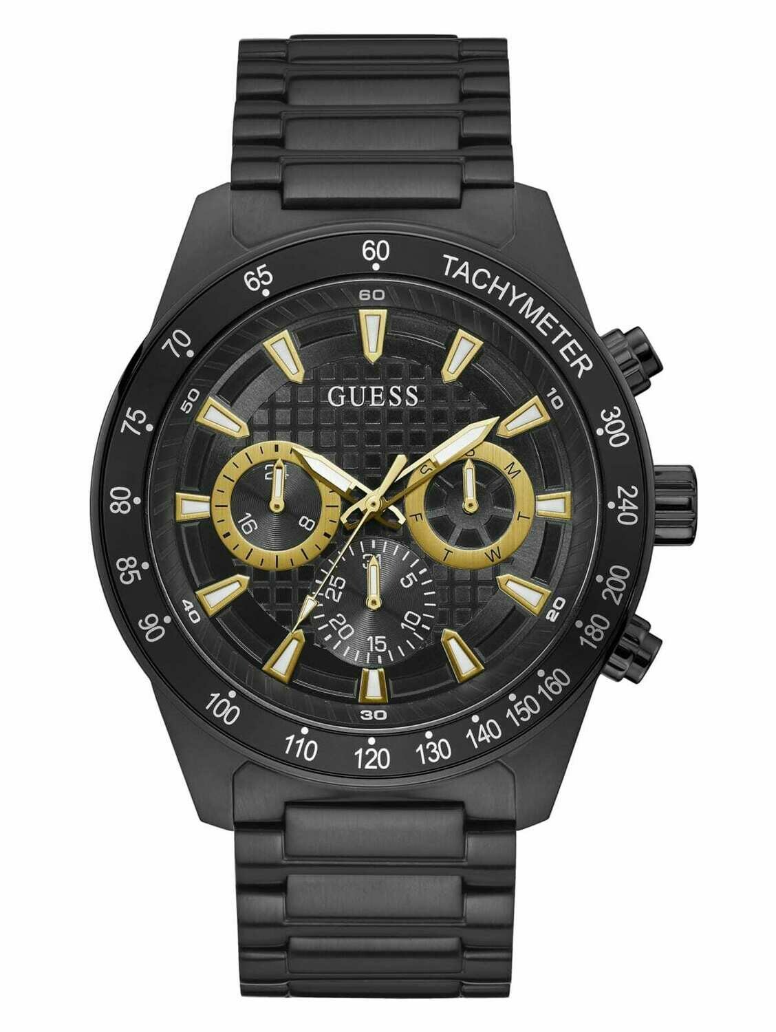 GUESS GNTS BLK  WATCH