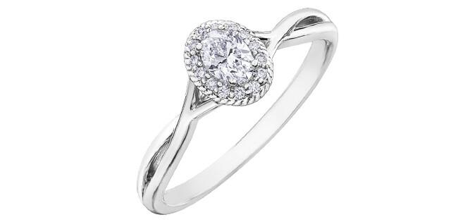 10KWG OVAL DIAMOND HALO RING