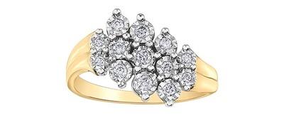 10KYG/WG DIAMOND RING
