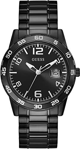 GTS GUESS WATCH BLK BAND BLK DIAL