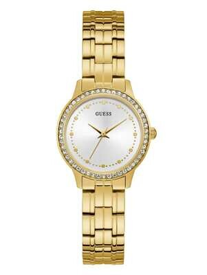 GUESS LDS WATCH WHITE DIAL/GOLD STRAP