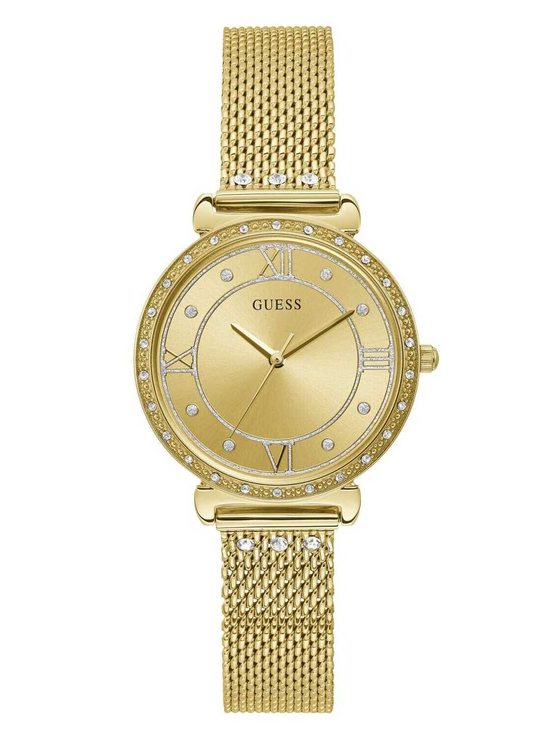 GUESS LDS WATCH GOLD TONE