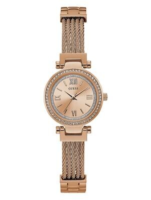 GUESS LDS WATCH ROSE TONE