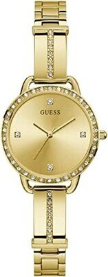 GUESS LDS GOLD/TONE WATCH