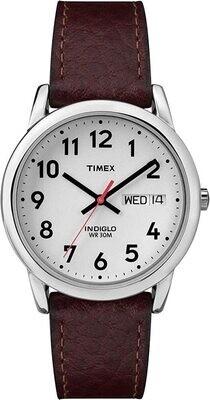 GTS S/C DAY/DATE BT=ROWN STRAP TIMEX WATCH