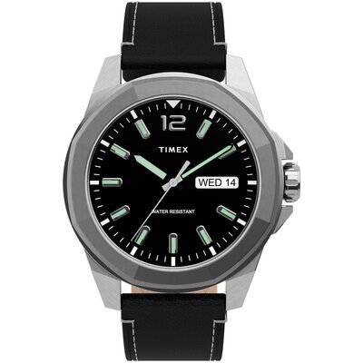 GNTS TIMEX WATCH SILVER W/BLK FACE