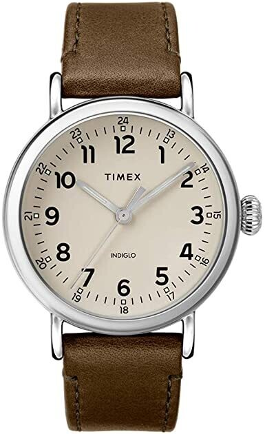 GTS S/C GREY DIAL TIMEX WATCH