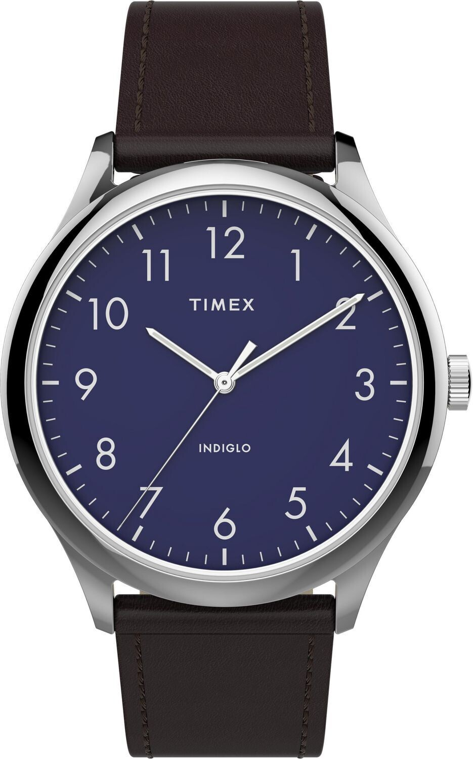 GTS BLUE DIAL WHITE NUMBERS TIMEX WATCH