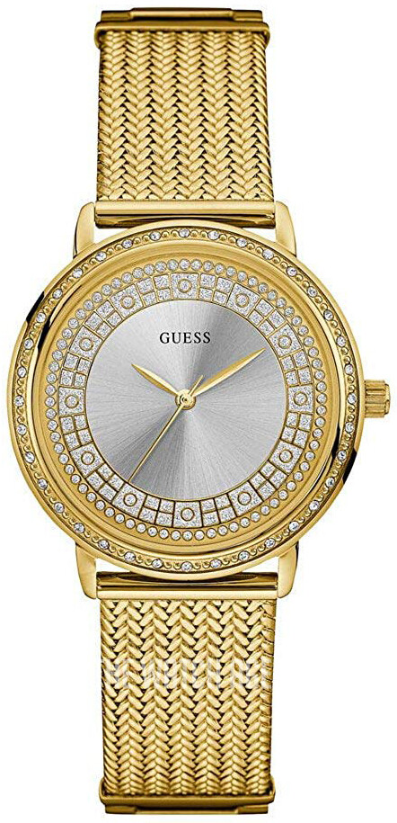 GUESS LDS.GOLDTONE W/MESH BAND