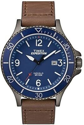 GTS BLUE DIAL AND BEZEL TIMEX WATCH
